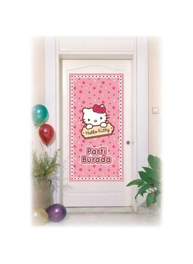 Hello Kitty Çiçekler Kapı Afişi-Hello Kitty